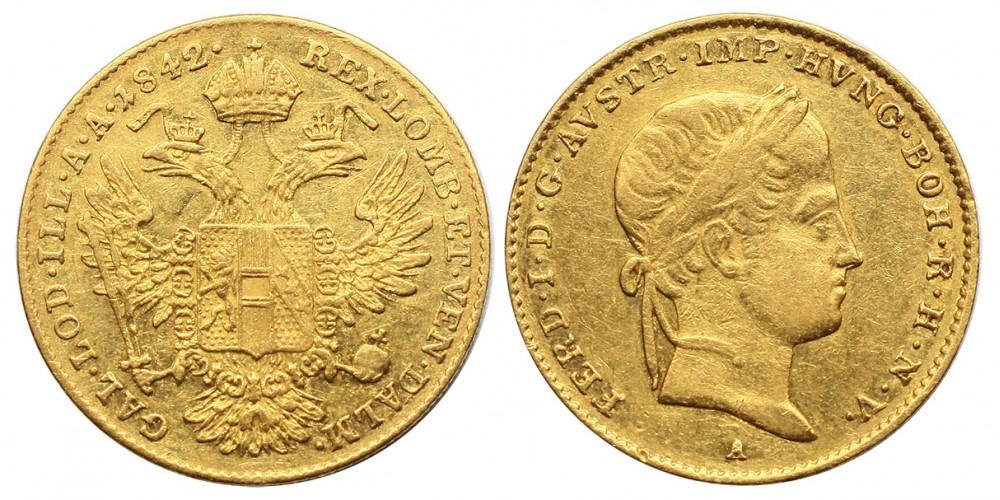 V.Ferdinánd dukát 1842