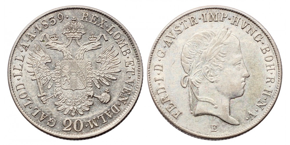 V.Ferdinánd 20 krajcár 1839 E