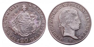 V.Ferdinánd 20 krajcár 1839 B