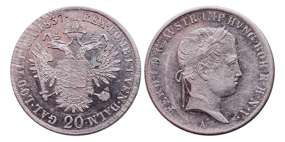 V.Ferdinánd  20 krajcár 1837 A