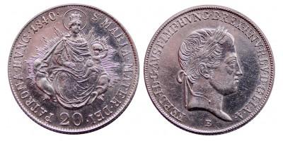 V.Ferdinánd 20 krajcár 1840 B