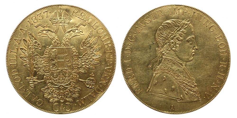 V. Ferdinánd 4 dukát 1837 A