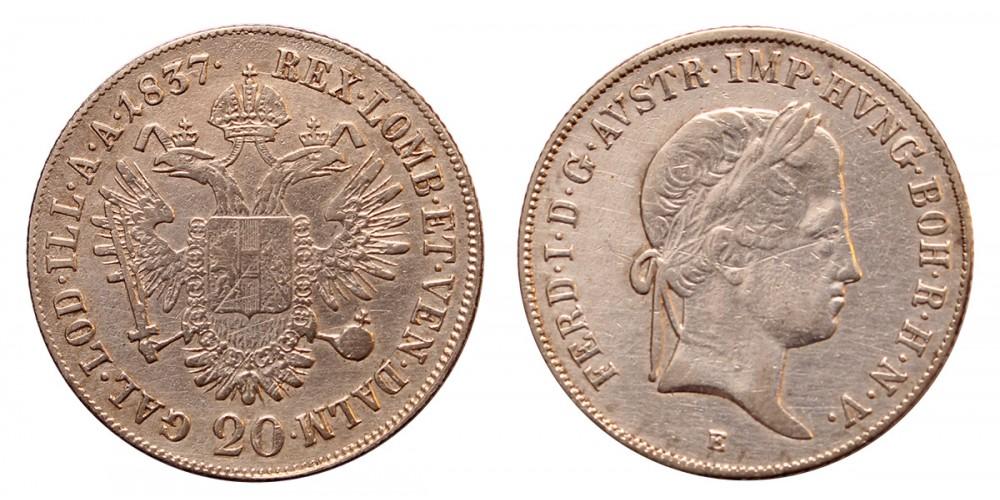 V. Ferdinánd 20 krajcár 1837 E R!