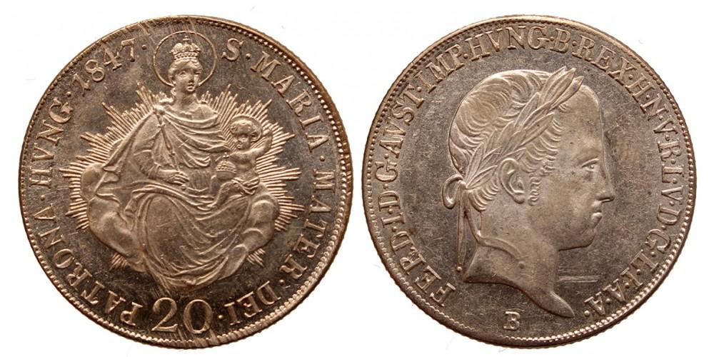 V. Ferdinánd  20 krajcár 1847 B