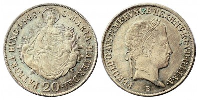 V.Ferdinánd 20 krajcár 1848 B