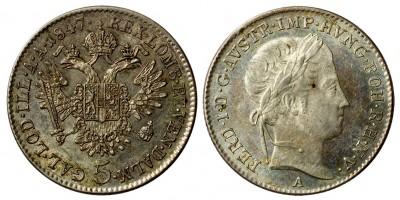 Ferdinand V. 5 kreuzer 1847 A