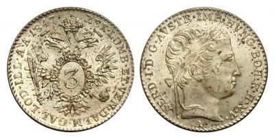 Ferdinand V. 3 kreuzer 1847 A