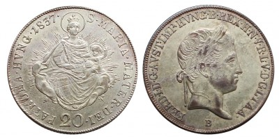 V.Ferdinánd 20 krajcár 1837 B
