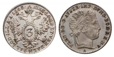 V. Ferdinánd 3 krajcár 1845 A