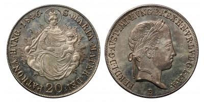 V.Ferdinánd 20 krajcár 1846 B