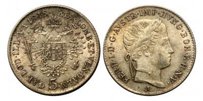 V.Ferdinánd 5 krajcár 1848 A