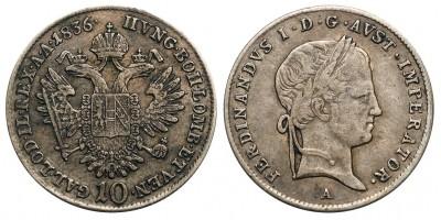 V.Ferdinánd 10 krajcár 1836 A