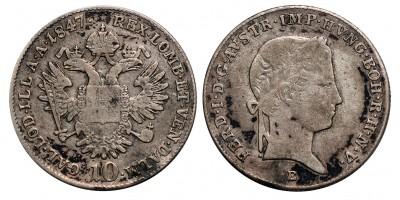 V.Ferdinánd 10 krajcár 1847 E