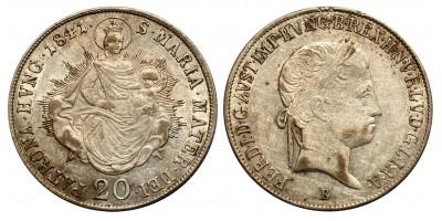 V.Ferdinánd 20 krajcár 1841 B
