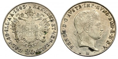 V.Ferdinánd 20 krajcár 1843 M