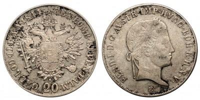 V.Ferdinánd 20 krajcár 1844 E