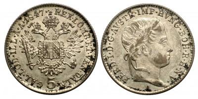 V.Ferdinánd 5 krajcár 1847 A