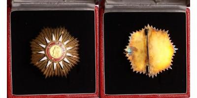 Argentin Május Rend Csillaga, dobozában