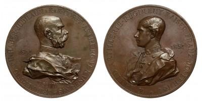 "Austro-Hungarian 8th ""Emperor"" Artillery Regiment jubilee medal 1894"