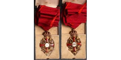 Ferenc József Rend Középkeresztje, dobozában (gold) R!