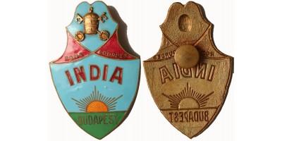 Eucharisztikus Kongresszus 1938 India-Budapest hivatalos jelvény RR!
