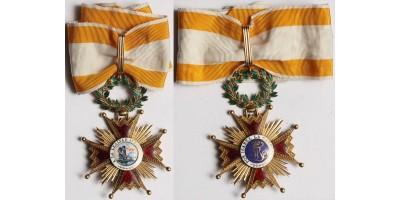 Spanyolország Izabella Rend parancsnoki keresztje (arany)