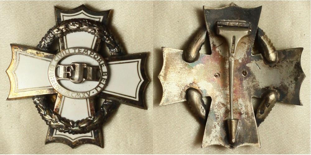Polgári Hadi Érdemkereszt III. osztálya, dobozában (Bachruch)