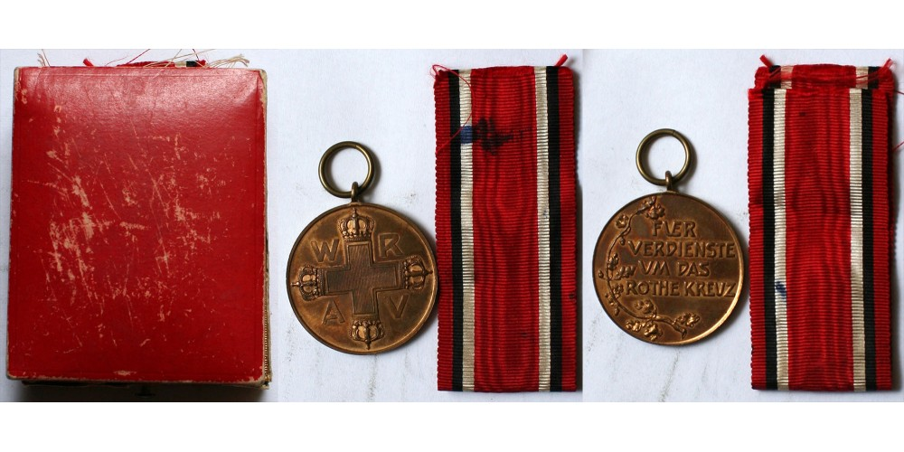 Porosz Vöröskereszt Érme 3. osztály
