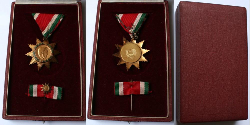 Magyar Szabadság Érdemrend bronz fokozata 1957, dobozában