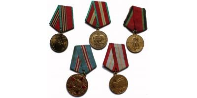 Szovjet kitüntetés 5db
