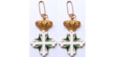 Olasz Szt. Móric és Lázár Rend Parancsnoki Kereszt (arany)