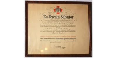 Vöröskereszt Ezüst Díszérme hadidíszítménnyel adományozó