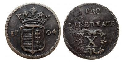 II.Rákóczi Ferenc X poltura 1704