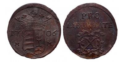 Rákóczi szabadságharc X poltura 1706 MM
