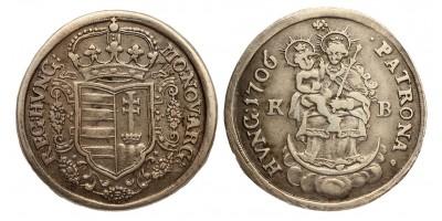 Rákóczi 1/2 tallér 1706 KB.