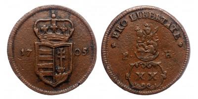 Rákóczi Ferenc XX poltura 1705 jn.