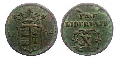 Rákóczi X poltura 1704 jn.
