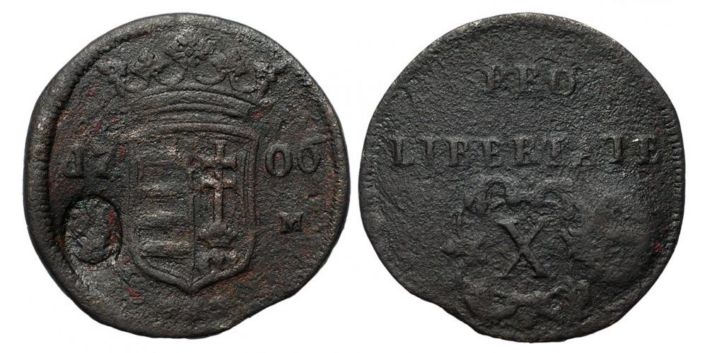 Rákóczi X poltura 1706 C-M ellenjeggyel