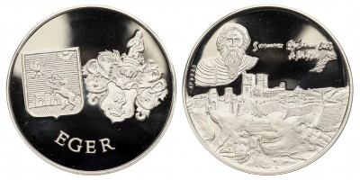 Dobó István-Eger vára ezüst érem.