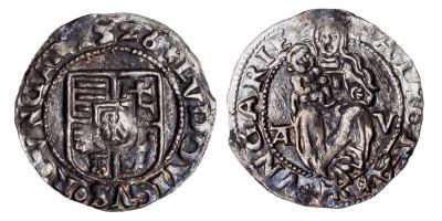 II. Lajos denár 1526 A-V/HK ÉH 673