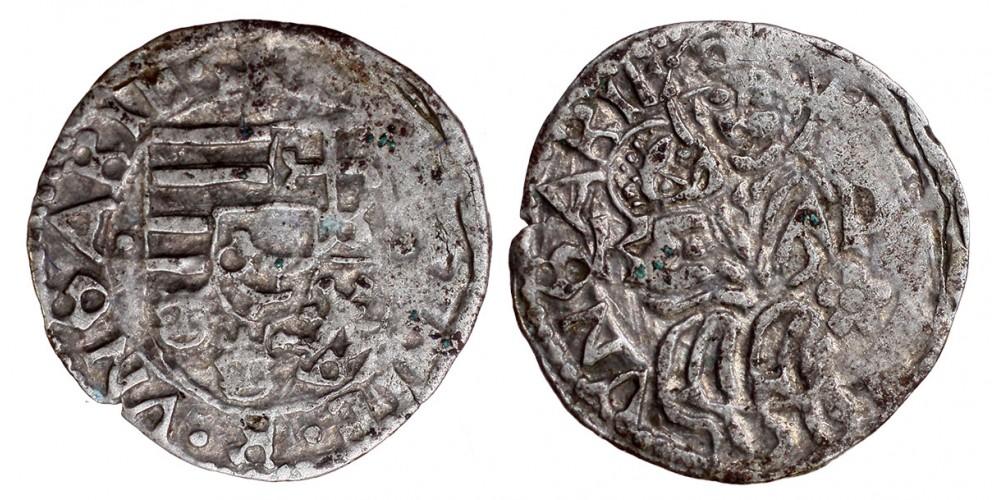I. Mátyás 1458-90 denár ÉH 567