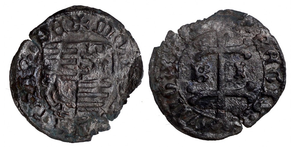 I. Mátyás 1458-90 denár ÉH 561