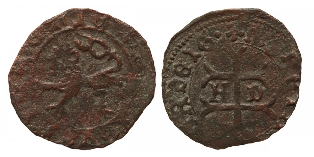 Hunyadi János 1446-53 denár ÉH 486 publikálatlan verdejegy (!)