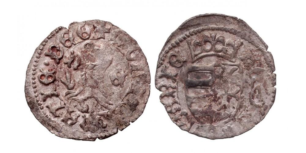 I. Mátyás 1458-90 denár n-E ÉH 558
