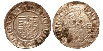 II. Lajos denár 1518 K-G ÉH 673