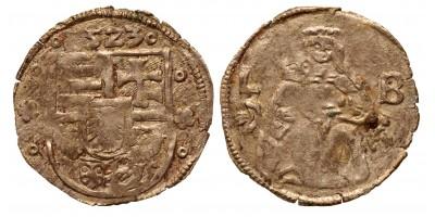 II. Lajos denár 1523 L-B ÉH 675