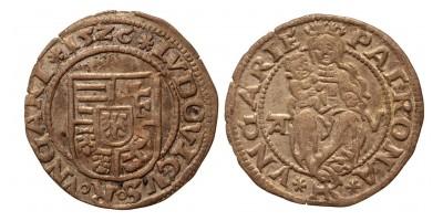 II. Lajos denár 1526 A-V ÉH 673