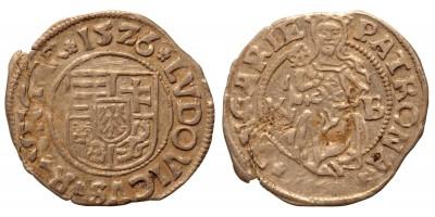 II. Lajos denár 1526 K-B ÉH 673