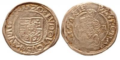 II. Lajos denár 1520 K-A EH 673