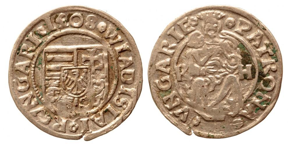 II. Ulászló denár 1508 K-H ÉH 646